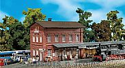 Faller 110099 OO/HO Scale Model Kit WALDBRUNN STATION - WITH COVERED PLATFORM