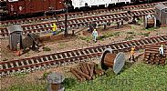 Faller 120141 OO/HO Scale Model Kit TRACKSIDE ACCESSORIES FOR MAINTENANCE WORK