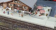 Faller 120206 OO/HO Scale Model Kit STATION PLATFORM SET - BASE PLATES/RAMPS/STAIRS