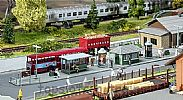 Faller 120207 OO/HO Scale Model Kit STATION BUS / TRAM STOP SCENE