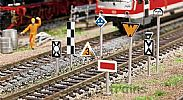 Faller 120226 OO/HO Scale Model Kit LINESIDE SIGNS AND DIRECTION BOARDS