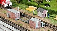Faller 120239 OO/HO Scale Model Kit 3 X BRICK TRANSFORMER STATIONS