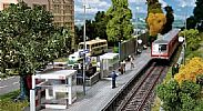 Faller 120240 OO/HO Scale Model Kit MODERN STATION SHELTER WITH PLATFORM EDGE
