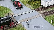 Faller 120243 OO/HO Scale Model Kit UNGATED LEVEL CROSSING - WITH CROSSES AND SIGNS