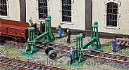 Faller 120278 OO/HO Scale Model Kit 2 X SPINDLE LIFTING JACKS - WITH SUPPORTS