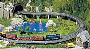 Faller 120470 OO/HO Scale Model Kit UP AND OVER BRIDGE SET