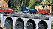Faller 120477 OO/HO Scale Model Kit TOP SECTION OF STONE VIADUCT - STRAIGHT