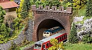 Faller 120570 OO/HO Scale Model Kit 2 X DOUBLE TRACK CIRCULAR ARC TUNNEL PORTALS