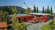 Faller 130160 OO/HO Scale Model Kit MODERN FIRE STATION