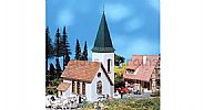 Faller 130240 OO/HO Scale Model Kit VILLAGE CHURCH – WITH POINTED TOWER
