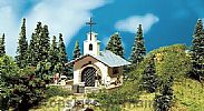 Faller 130243 OO/HO Scale Model Kit MOUNTAIN CHAPEL – WITH WROUGHT IRON GATES