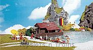 Faller 130284 OO/HO Scale Model Kit BOATHOUSE WITH BOAT