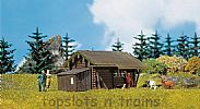Faller 130293 OO/HO Scale Model Kit FOREST LOG CABIN - WITH BUILT-ON TOOL SHED