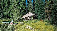Faller 130299 OO/HO Scale Model Kit MOUNTAIN HUT / LOG CABIN