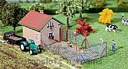 Faller 130328 OO/HO Scale Model Kit HENHOUSE WITH CHICKEN RUN