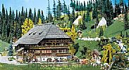 Faller 130366 OO/HO Scale Model Kit BLACK FOREST FARMHOUSE AND FARMYARD - ERA I