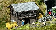 Faller 130382 OO/HO Scale Model Kit COVERED HAY BARN