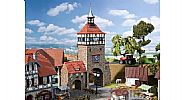Faller 130406 OO/HO Scale Model Kit CITY GATE – WITH GATEHOUSE