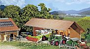 Faller 130521 OO/HO Scale Model Kit IMPLEMENT / EQUIPMENT SHED - OPEN FRONT