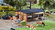 Faller 130547 OO/HO Scale Model Kit LIVESTOCK SHELTER - CATTLE SHED