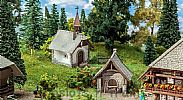 Faller 130571 OO/HO Scale Model Kit FARM CHAPEL AND BAKEHOUSE I