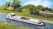 Faller 131006 OO/HO Scale Model Kit RIVER CARGO BOAT WITH CABIN