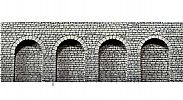 Faller 170838 OO/HO Scale Decorative Panel NATURAL STONE ARCADE WALL – CLOSED ROUND ARCHWAYS