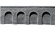 Faller 170890 OO/HO Scale Decorative Sheet STONE ASHLARS ARCADE - 370 x 125 x 13 mm