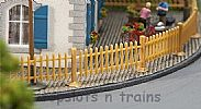 Faller 180415 OO/HO Scale Model Kit WOODEN GARDEN FENCING – OVERALL LENGTH 1060 mm
