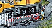 Faller 180435 OO/HO Scale Model Kit BARRIER FENCES - HIGH AND LOW