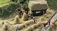 Faller 180561 OO/HO Scale Model Kit HAY HARVESTING SCENE