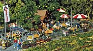Faller 180564 OO/HO Scale Model Kit BEER GARDEN – WITH TABLES CHAIRS etc