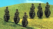 Faller 181229 OO/HO/N Scale Trees 6 X PREMIUM THUJAS TREES - 40 mm