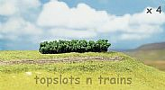 Faller 181356 OO/HO/N  Scale 4 X PREMIUM HEDGES – LIGHT GREEN