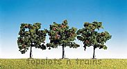 Faller 181403 OO/HO/N Scale Trees 3 X APPLE TREES - 80 mm