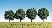 Faller 181412 OO/HO/N Scale Trees 4 X PARK / LEAF TREES - 60 mm