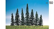 Faller 181464 OO/HO/N Scale Trees 50 X FIR TREES / 50 - 110 mm