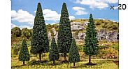 Faller 181481 OO/HO/N Scale Trees 20 X CONIFER TREES / 70 - 150 mm