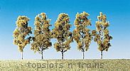 Faller 181486 OO/HO/N Scale Trees 5 X BIRCH TREES / 55 mm