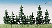 Faller 181493 OO/HO Scale Trees 40 X FIR TREES / 50 - 120 mm