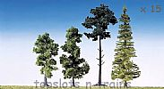 Faller 181495 OO/HO/N Scale Trees 15 X MIXED FOREST TREES / 90 - 150 mm