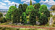 Faller 181524 OO/HO Scale Trees 15 X DECIDUOUS TREES / 75 - 100 mm