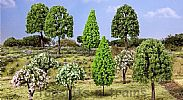Faller 181526 OO/HO/N Scale Trees 10 X ASSORTED DECIDUOUS TREES / 60 - 115 mm