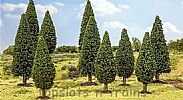 Faller 181527 OO/HO/N Scale Trees 10 X FIR TREES / 90 - 120 mm