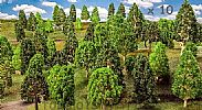 Faller 181531 OO/HO Scale Trees 10 X ASSORTED DECIDUOUS TREES / 35 - 120 mm