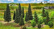 Faller 181540 OO/HO/N Scale Trees 25 X MIXED SMALL FOREST TREES / 35 - 90 mm