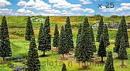 Faller 181541 OO/HO/N Scale Trees 25 X ASSORTED SMALL FIR TREES / 50 - 90 mm