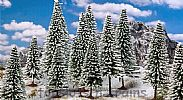 Faller 181580 OO/HO Scale Trees 18 X WINTER SNOW COVERED FIR TREES / 100 - 140 mm
