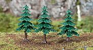 Faller 181602 OO/HO/N Scale Trees 3 X SMALL FIR TREES / 50 mm