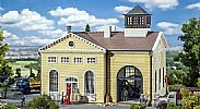 Faller 191734 OO/HO Scale Model Kit ENGINE HOUSE - WITH STEAM ENGINE